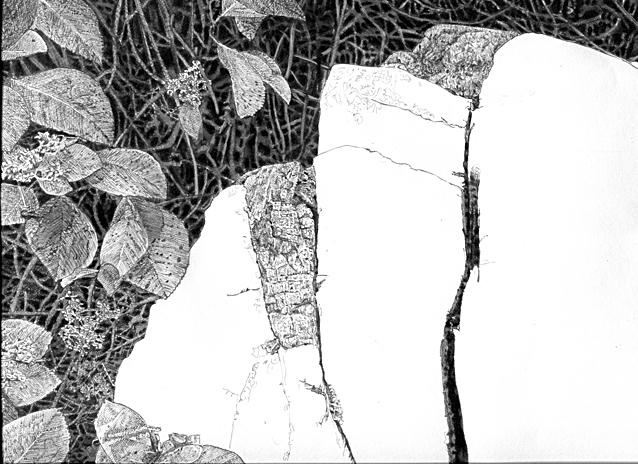 石を描く1作目途中経過1.jpg